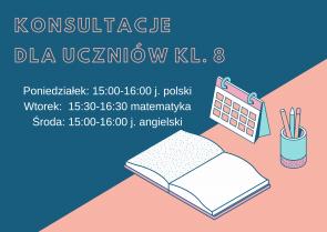 Konsultacje dla uczniów kl. 8