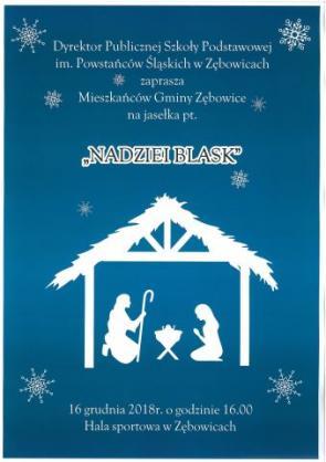 Zaproszenie na szkolne Jasełka